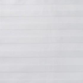 Ткань отбеленная Сатин-страйп 1х1, ширина 160 см, длина 50 м, плотность 125 г/м2, хлопок 100%