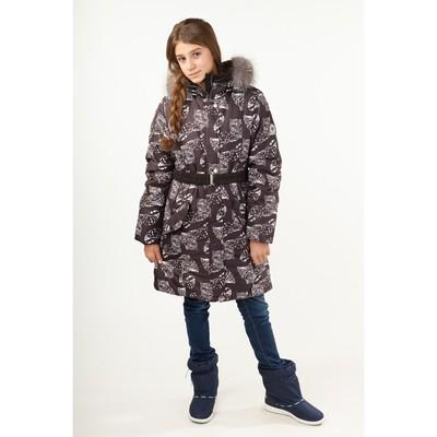 Полупальто для девочки, рост 140 см, цвет чёрный