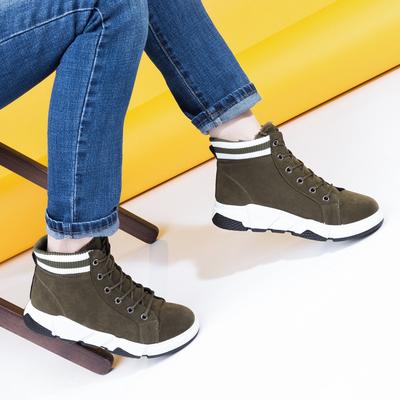 Угги-ботинки женские 905 MINAKU зеленый р. 36