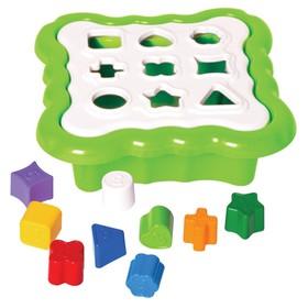 Игрушка сортер «Умные фигурки» 10 деталей, цвет светло-зелёный