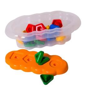 Игрушка развивающая «Магические фигурки», 20 элементов, цвет оранжевый