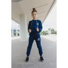 Спортивный костюм для девочки, Love, синий, рост 122-128 (32)