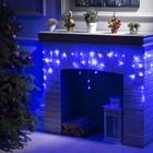 """Гирлянда """"Бахрома"""", 1.8 х 0.5 м, LED-48-220V, 8 режимов, нить прозрачная, свечение синее"""