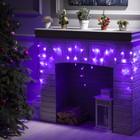 """Гирлянда """"Бахрома"""", 1.8 х 0.5 м, LED-48-220V, 8 режимов, нить прозрачная, свечение фиолетовое"""