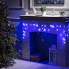 """Гирлянда """"Бахрома"""", 1.8 х 0.5 м, LED-48-220V, 8 режимов, нить тёмная, свечение синее"""