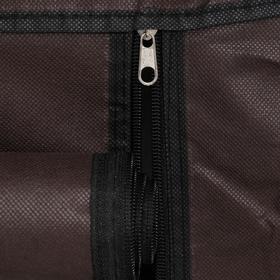Полка для обуви двойная 6 ярусов, 118×30×120 см, цвет коричневый - фото 7843980