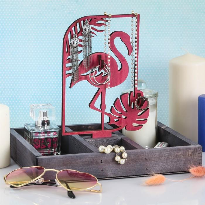 """Органайзер для хранения """"Фламинго и монстера"""""""
