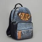 Рюкзак-сумка молодёжный, отдел на молнии, наружный карман, цвет голубой