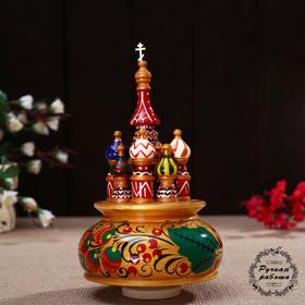 "Souvenir music ""Temple"", 19x 15,5 cm, Khokhloma gold"