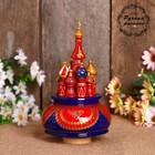 """Сувенир музыкальный """"Храм"""", 19х15,5 см, красно-синяя"""