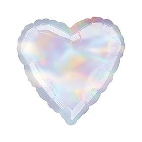 """Шар фольгированный 18"""" «Сердце», блеск, Iridescent"""
