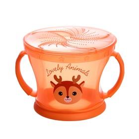 Контейнер для хранения питания детский, непросыпайка, цвет оранжевый