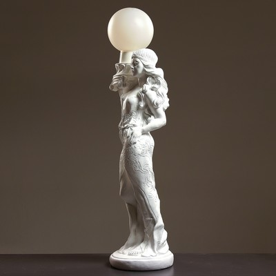 "Лампа интерьерная ""Восточная красавица"" белый 97см"