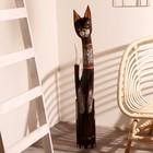 """Сувенир """"Кошка с красными вставками"""" дерево 16х7х100 см - фото 921443"""