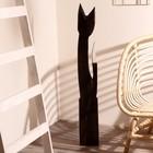 """Сувенир """"Кошка с красными вставками"""" дерево 16х7х100 см - фото 921446"""