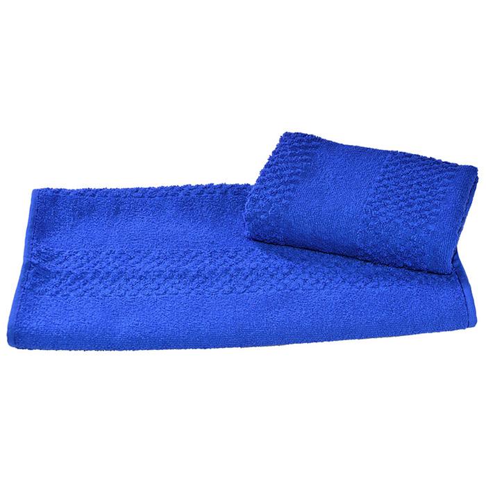 Полотенце махровое гладкокрашеное 30×60 см 360 г/м2, синий, 100% хлопок