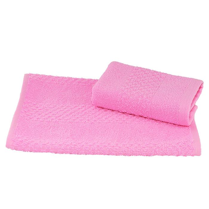Полотенце махровое гладкокрашеное 30×60 см 360 г/м2, розовый, 100% хлопок