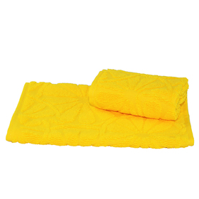 Полотенце махровое жаккардовое 30×50 см 400 г/м2, желтый, 100% хлопок