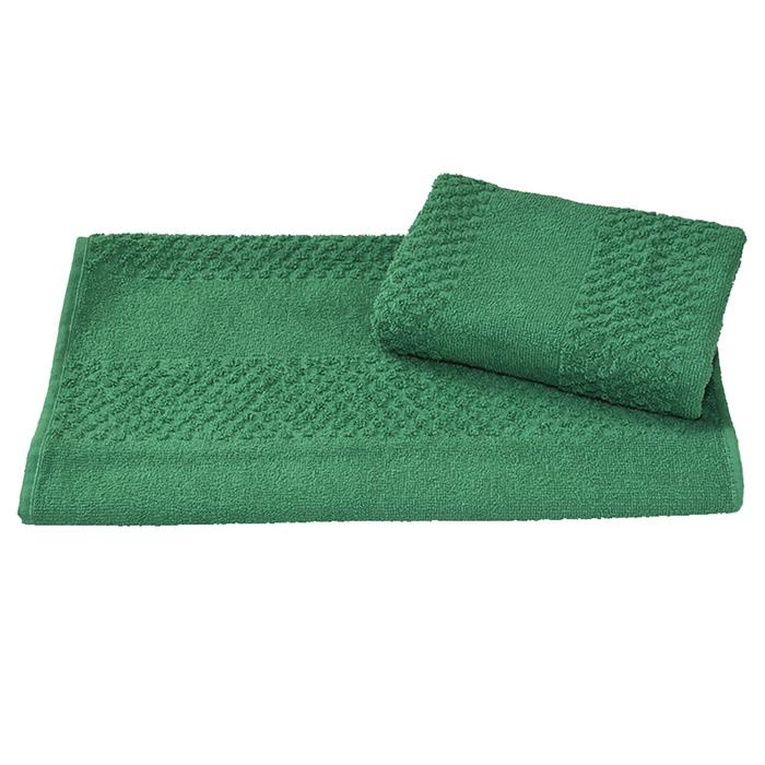 Полотенце махровое гладкокрашеное 40×70 см 360 г/м2, зеленый, 100% хлопок