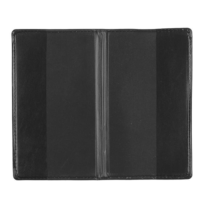 Записная книжка обл ПВХ А6+ 80л лин черная