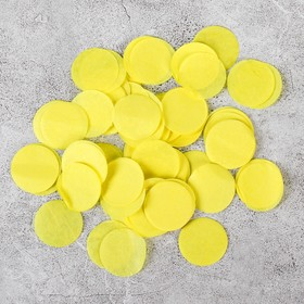 """The filler for the bowl """"Confetti round"""" 2.5 cm, paper, color yellow, 500g"""