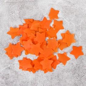 """Наполнитель для шара """"Конфетти звёзды"""", 2 см, 500 г, бумага, цвет оранжевый"""