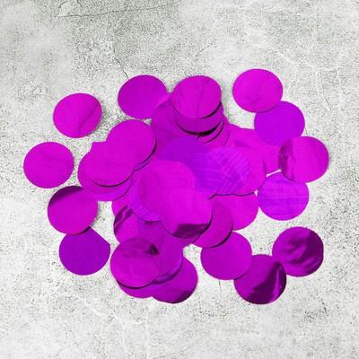 """Наполнитель для шара """"Конфетти круг"""" 2,5 см, фольга, цвет розовый 500г"""