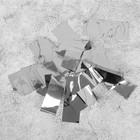 """Наполнитель для шара """"Конфетти прямоугольник"""" 5 см, фольга, цвет серебряный 500г"""