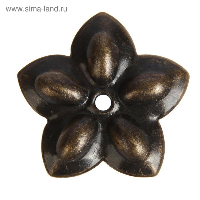 """Декор для творчества металл """"Цветочек"""" бронза набор 20 шт 2,3х2,3 см"""