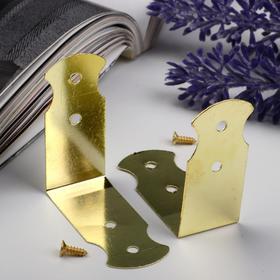 Area (overlay) box metal + co. gold 4,1x1,8 cm