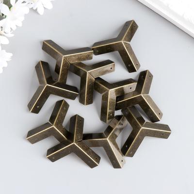Уголок (накладка) для шкатулок металл 3х3х3 см