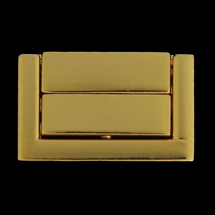 Замок литой с шариковой защёлкой металл для шкатулки золото + гвозд. 3,8х2,3 см
