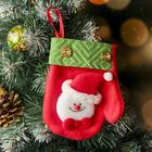 """Soft mitten """"Celebration"""" of 12.5*14 cm, snowman"""