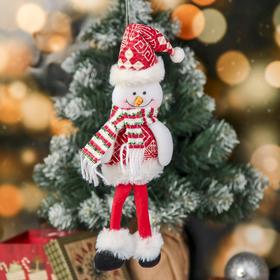 """Мягкая игрушка """"Снеговик с узорами"""" 8*30 см"""