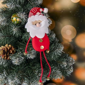 """The suspension is soft """"Santa Claus in red"""" 6*26 cm"""