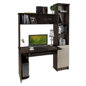 Стол компьютерный Интел-2 1500х600х2000 Бодега тёмный/Бодега светлый