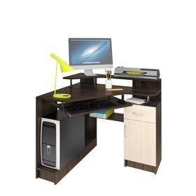 Стол компьютерный Интел-5 950х800х830 Бодега тёмный/Бодега светлый