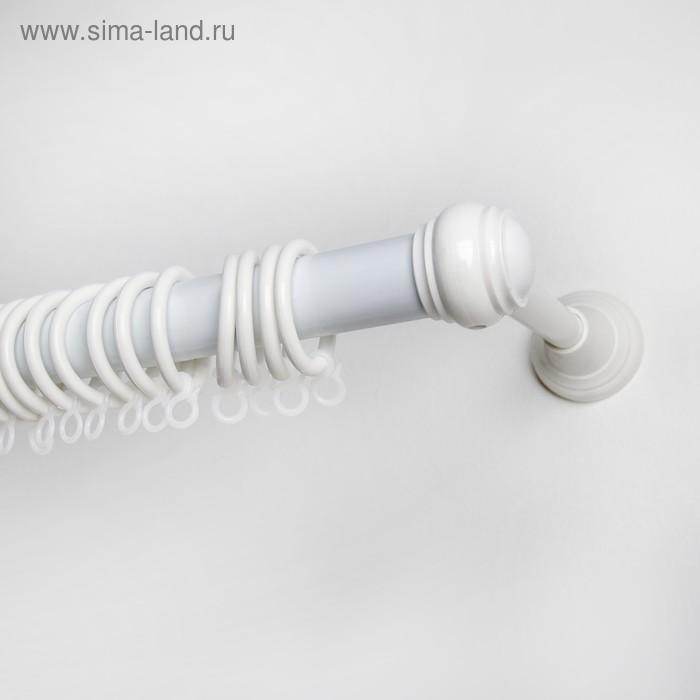 Карниз однорядный 160 см, d=2,8 см, цвет белый
