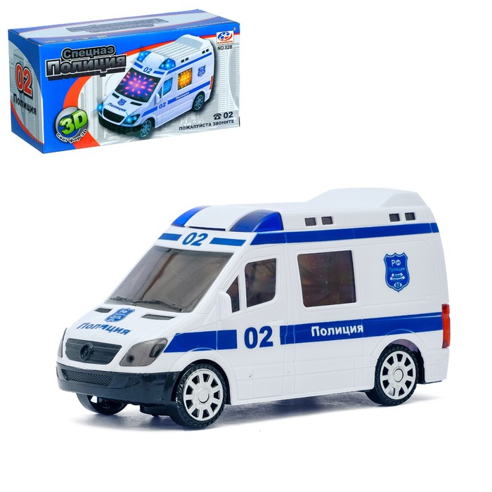 Машина «Полиция», работает от батареек, свет и звук