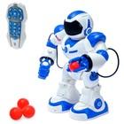 Робот радиоуправляемый, интерактивный «Космонавт», стреляет шариком, световые и звуковые эффекты, работает от аккумулятора