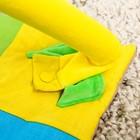 Коврик развивающий с бортиками «Лужайка с машинкой», дуги, 4 игрушки - фото 105523867