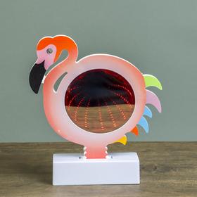 """Ночник бесконечность """"Фламинго"""" LEDх15 от 3ААА МИКС 18,5х17х4,5 см"""