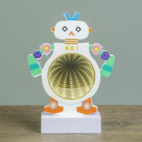 Ночник-бесконечность «Робот», LED × 16, работает от 3 ААА, 22,5 × 16 × 4,5 см, цвет МИКС