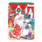 """Коврик для ванной """"Дед Мороз и сказка"""""""