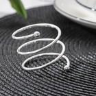 """Кольцо для салфеток """"Спираль. Серебро"""", d=4,5 см"""