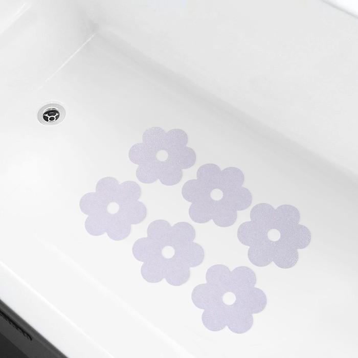 Противоскользящие наклейки для ванны «Цветочек», набор 6 шт.