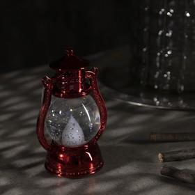 "Фигура световая ""Красный фонарь"", 12х7,5х5см, от батареек 3xLR44, Т/БЕЛЫЙ - фото 1384448"