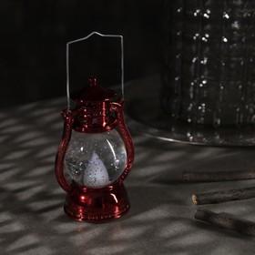"Фигура световая ""Красный фонарь"", 12х7,5х5см, от батареек 3xLR44, Т/БЕЛЫЙ - фото 1384449"