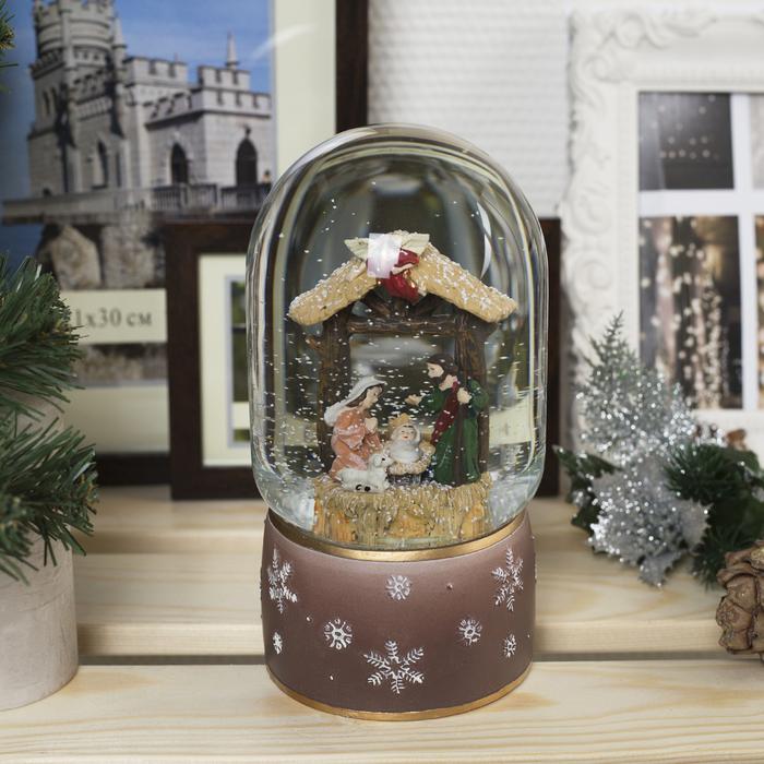 """Фигура световая новогодний шар """"Рождение Христа"""", 19х10х10 см, 3*АА(не в комп),Т-БЕЛЫЙ"""