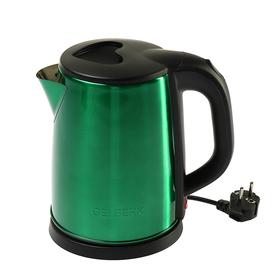 Чайник электрический GELBERK GL-323, металл, 2 л, 1500 Вт, зеленый